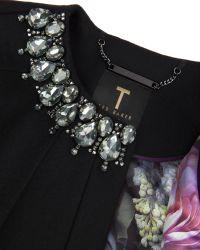Ted Baker - Black Yonne Embellished Cape - Lyst