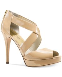 Michael Kors | Natural Michael Ariel Platform Dress Sandals | Lyst