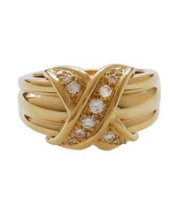 Tiffany & Co. | Metallic Yellow Gold And Diamond Ring | Lyst