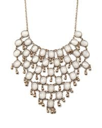 Forever 21 | Metallic Faux Gemstone Statement Necklace | Lyst