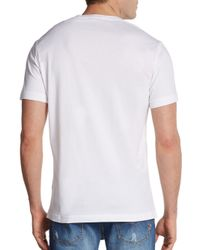 Versace Jeans White Statue Graphic Cotton Tee for men