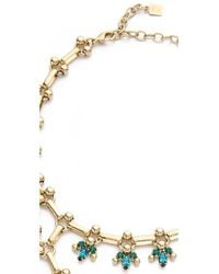 DANNIJO - Green Whitley Necklace - Indicolite/emerald/gold - Lyst