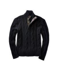 Polo Ralph Lauren - Black Aran-knit Wool Sweater for Men - Lyst