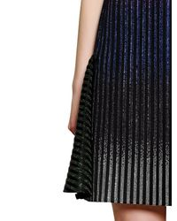 Marco De Vincenzo Multicolor Studded Techno Ribbed Dress