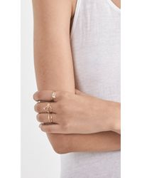 Loren Stewart | Metallic Double Baguette Ring | Lyst