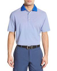 Peter Millar - Blue 'jubilee Stripe' Performance Polo for Men - Lyst