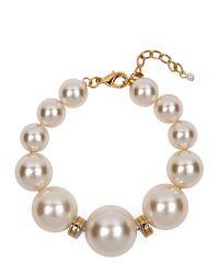 Jaeger | Metallic Chunky Pearl Bracelet | Lyst