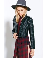 Pins And Needles Black Allover Studded Moto Jacket