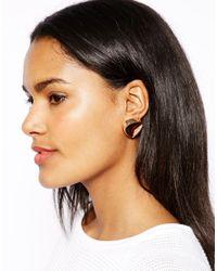 River Island | Metallic Chunky Clean Topaz Stud Earrings | Lyst