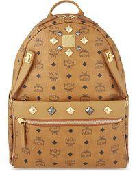 MCM | Brown Dual Stark Medium Backpack - For Men for Men | Lyst