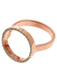 Monica Vinader | Metallic Rose Gold-plated Diamond Naida Circle Open Ring | Lyst