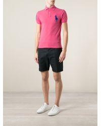Polo Ralph Lauren Pink Logo Embroidered Polo Shirt for men