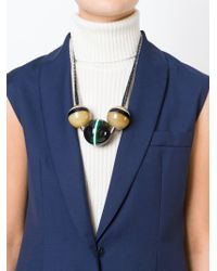 Marni - Black Wool Chain Necklace - Lyst