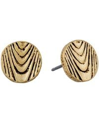 The Sak | Metallic Round Etched Stud Earrings | Lyst