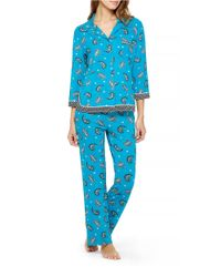 Ellen Tracy | Blue 2-piece Patterned Pajama Set | Lyst