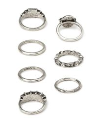 Forever 21 | Metallic Essential Faux Stone Rings | Lyst