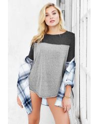 Truly Madly Deeply - Gray Emily Football Tee - Lyst
