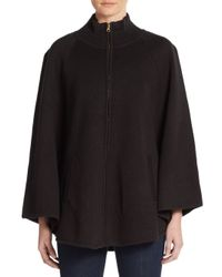 Saks Fifth Avenue - Black Zip-front Turtleneck Sweater - Lyst