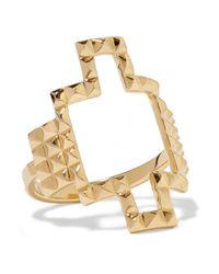 Elizabeth and James | Metallic Kota Gold-plated Ring | Lyst