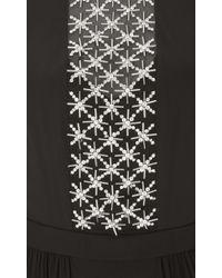 Temperley London | Black Long Trixie Lattice Cape Dress | Lyst