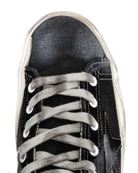Golden Goose Deluxe Brand | Black Francy Canvas High Top Trainers | Lyst