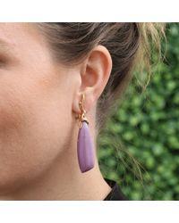 Lucifer Vir Honestus | Purple Phosphosiderite Drop Earrings | Lyst