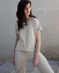 Hanro - Gray Casual Cotton Pullover Top - Lyst