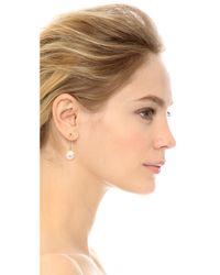 Wouters & Hendrix White Pin Earrings - Pearl