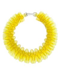 Mary Katrantzou | Yellow Ruffle Necklace | Lyst