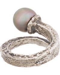 Pearls Before Swine | Metallic Silver Forged Tahitian Pearl Ring | Lyst