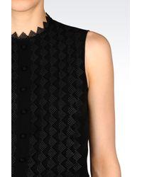 Emporio Armani | Black Silk Top | Lyst