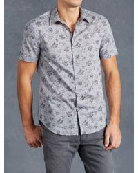 John Varvatos | Green Cotton Floral Shirt for Men | Lyst