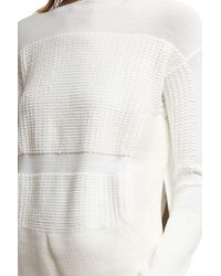Helmut Lang - White Textured Inlay Pullover - Lyst