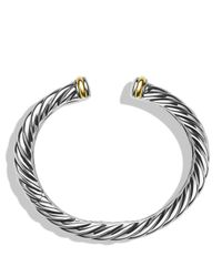 David Yurman | Metallic Waverly Bracelet With Gold | Lyst