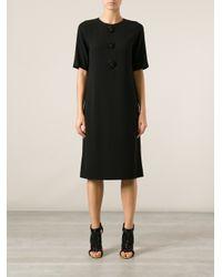Tory Burch Black Embellished Shift Dress