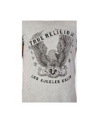 True Religion | Gray Eagle Print Mens T-shirt for Men | Lyst