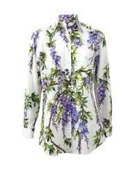 Dolce & Gabbana - Purple Wisteria Blouse - Lyst