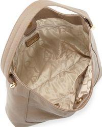 Furla Natural Michelle Medium Leather Hobo Bag