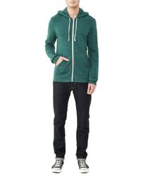 Alternative Apparel - Multicolor Rocky Eco-fleece Zip Hoodie for Men - Lyst