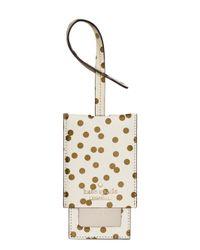 kate spade new york Natural Cedar Street Confetti Dot Luggage Tag