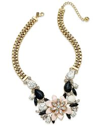 kate spade new york Metallic Glossy Petals Statement Necklace
