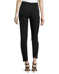 ESCADA | Black Skinny Low-Rise Cropped Pants | Lyst