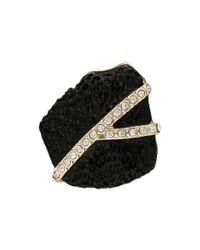 Sam Edelman - Black Pave Nugget Ring - Lyst
