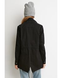 Forever 21 | Black Drawstring Utility Jacket | Lyst