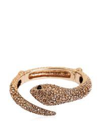 Roberto Cavalli | Metallic Embellished Snake Bracelet | Lyst