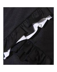 Jil Sander Black Acacia Ruffled Cotton And Wool-blend Skirt