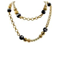 Dolce & Gabbana | Metallic Women's Goldtone Glitter Necklace | Lyst