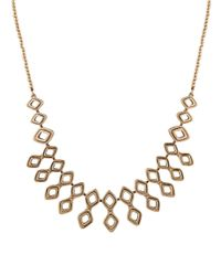 Lucky Brand | Metallic Pave Dream Openwork Bib Necklace | Lyst