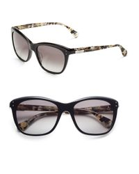 Diane von Furstenberg Black Molly Sunglasses