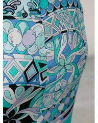 Emilio Pucci - Blue Baroque Geometric Printed Skirt - Lyst